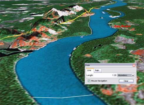 Estan en el rio orinoco poblacin de san pedro sobre el orinocoimagen google earth thecheapjerseys Choice Image